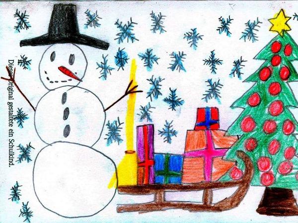Weihnachtskarte von Pia Ihringer.