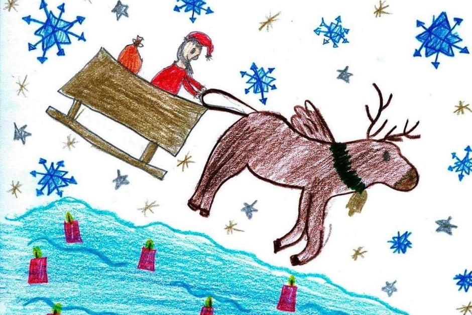 Weihnachtskarte von Erika Wagner. (Foto: Privat)
