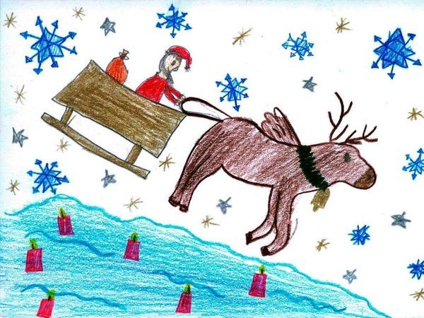 Weihnachtskarte von Erika Wagner.
