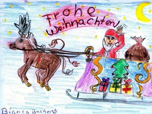 Weihnachtskarte von Bianca Bucher.
