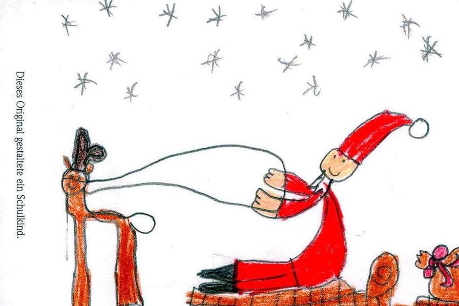 Weihnachtskarte von Enya Grass. (Foto: Privat)