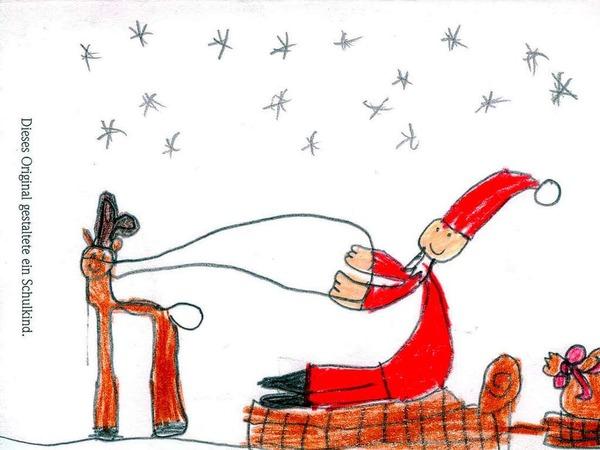 Weihnachtskarte von Enya Grass.