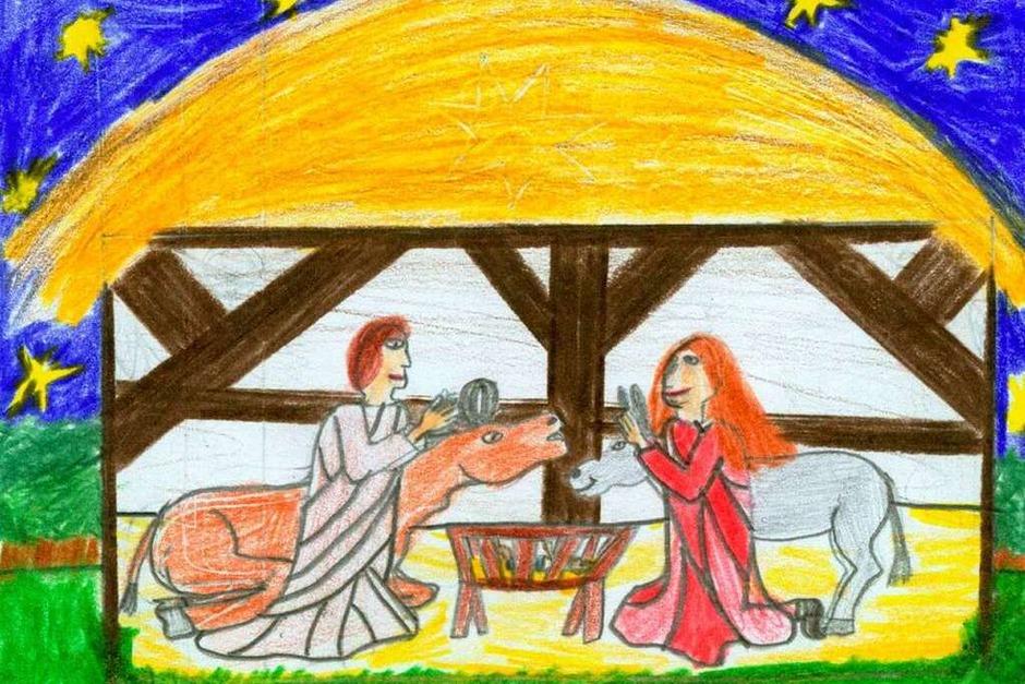 Weihnachtskarte von Aileen Grathwohl. (Foto: Privat)
