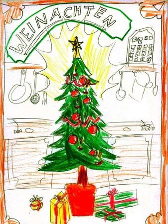 Weihnachtskarte, Künstler nicht bekannt