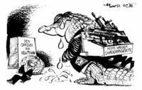 Auch die US-Waffenlobby trauert.