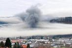 Fotos: Feuer zerstört Zimmerei in Schopfheim