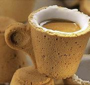 Essbare Tassen: Nach dem Kaffee einfach die Tasse aufessen