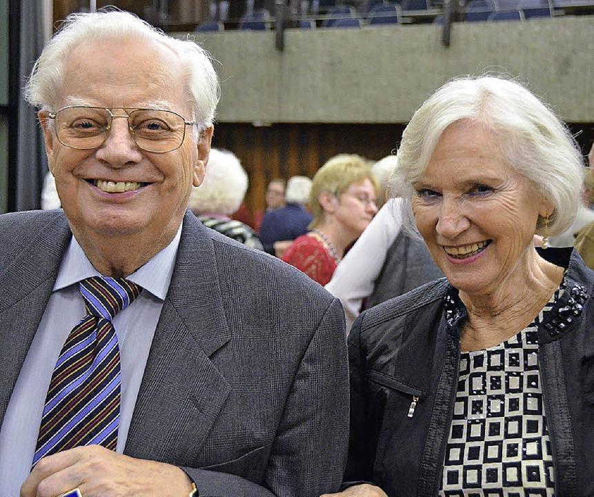 Erhard und Erika Richter  beim Stehempfang  | Foto: Ralf H. Dorweiler