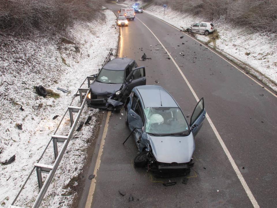 Die Unfallstelle auf der  B317  | Foto: Polizei
