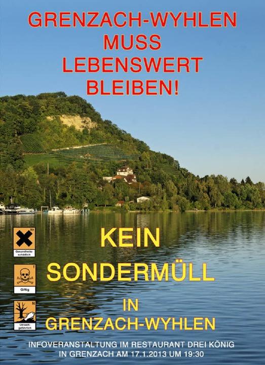 Mit diesem Plakat für Grenzach und ein... der Infoveranstaltung am Donnerstag.   | Foto: repro: BZ