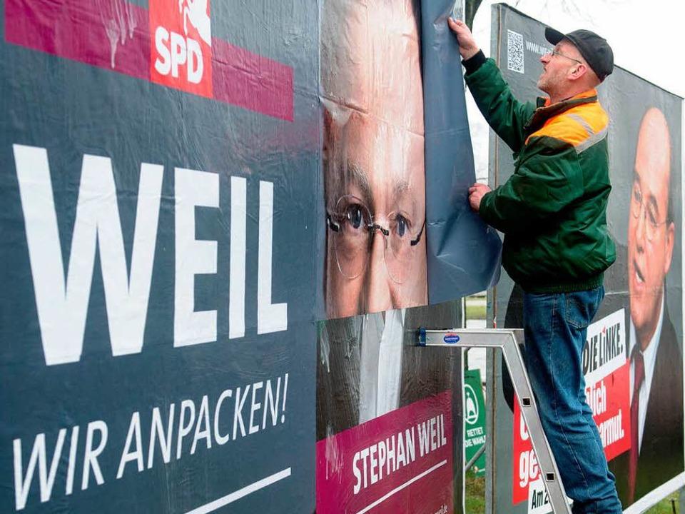 Endspurt im Wahlkampf in Hannover     Foto: dapd
