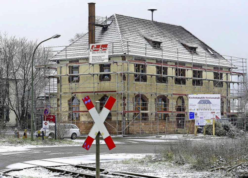 Noch ist die Kita Kantinenstraße in Zä...stelle, im Mai soll es dort losgehen.   | Foto: Ingo Schneider
