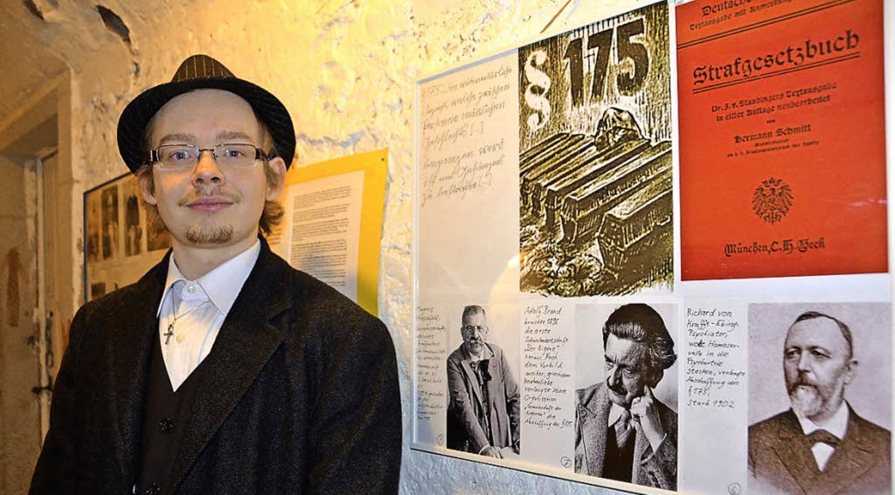 Andreas Bühler in  der Ausstellung der Youngstars Hochrhein im Alten Gefängnis  | Foto: Michael Krug