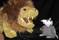 """""""Der L�we und die kleine Maus"""" im Haus der Jugend"""