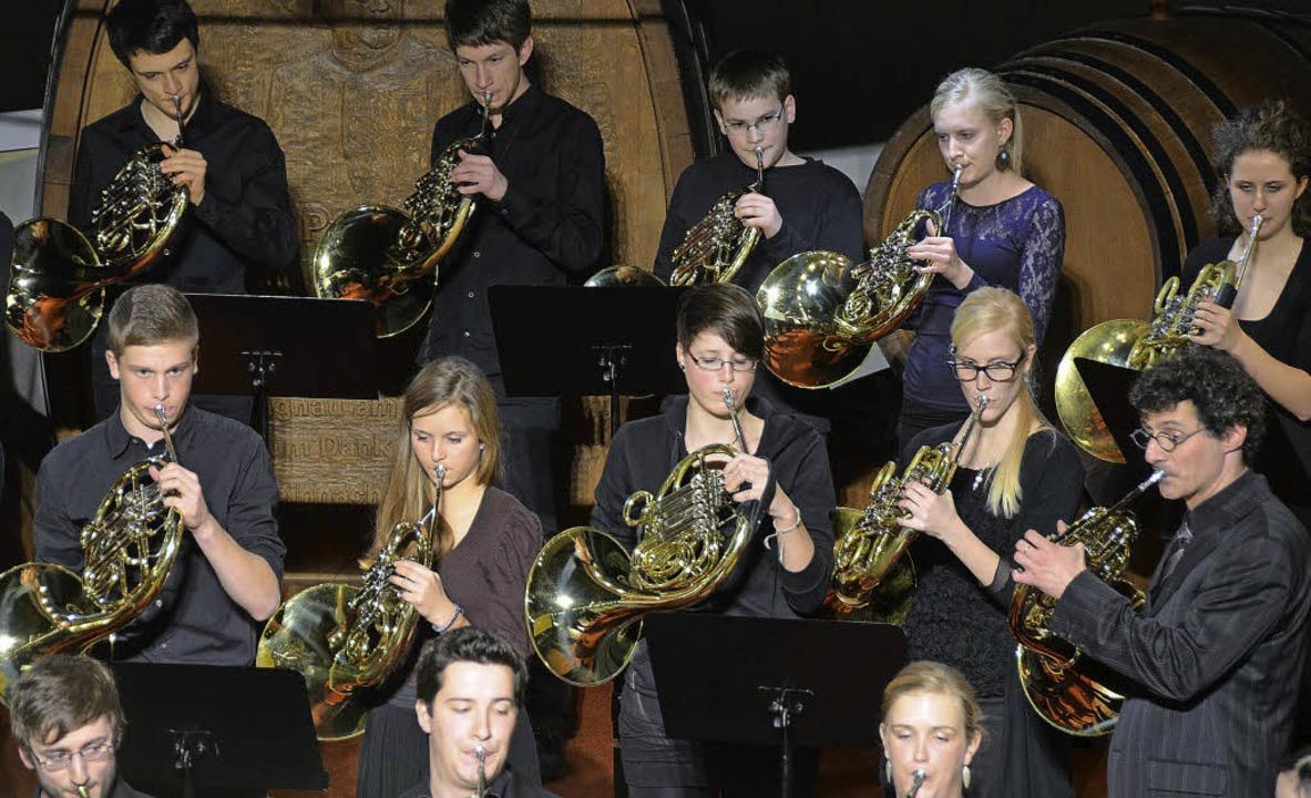Die Hornklasse der Musikhochschule Stu...chule westlicher Kaiserstuhl/Tuniberg.  | Foto: claudia müller