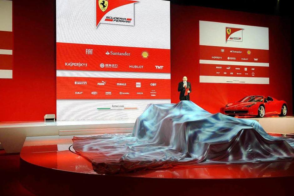 Ferrari hat am Freitag seinen neuen Formel-1-Rennwagen vorgestellt. (Foto: dpa)