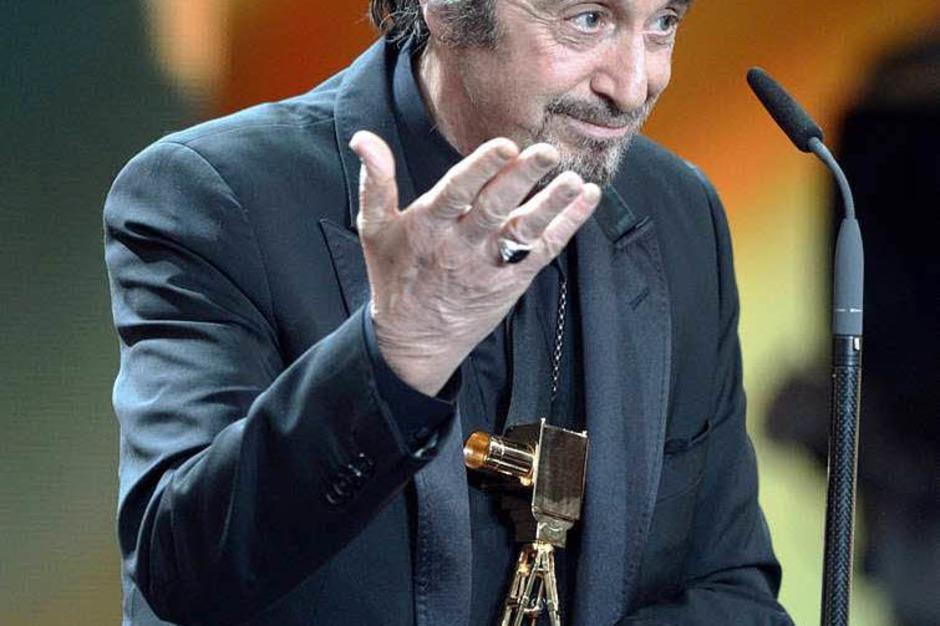 """Al Pacino wurde in der Kategorie """"Lebenswerk International"""" ausgezeichnet. (Foto: dapd)"""