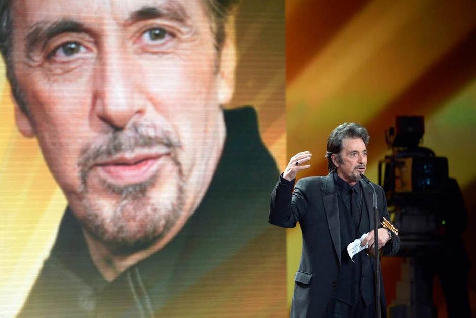 Al Pacino in Berlin. (Foto: dapd)