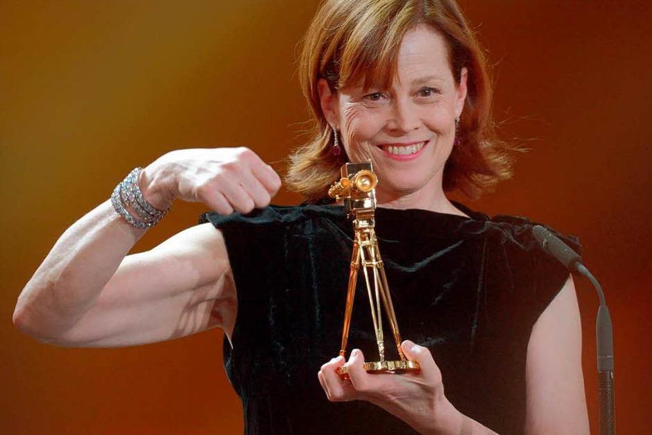 """Die US-amerikanische Schauspielerin Sigourney Weaver wurde in der Kategorie """"Beste Schauspielerin International"""" ausgezeichnet. (Foto: dapd)"""