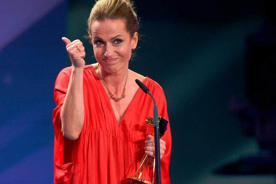 """Schauspielerin Claudia Michelsen wurde in der Kategorie """"Beste deutsche Schauspielerin"""" ausgezeichnet. (Foto: dapd)"""
