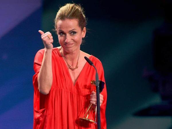 """Schauspielerin Claudia Michelsen wurde in der Kategorie """"Beste deutsche Schauspielerin"""" ausgezeichnet."""