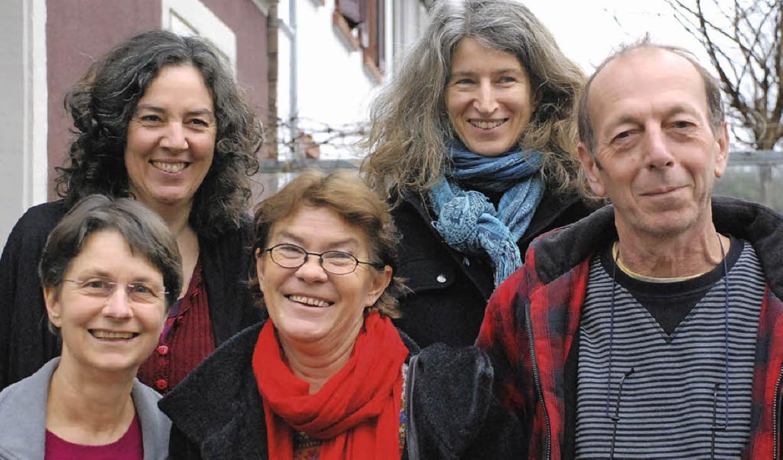Sylvia Dorn, Andrea Köhler  Luzia Fähn... Klaus Fähnrich von links nach rechts)  | Foto: Gertrude Siefke