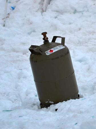 Hat diese Gasflasche die Explosion verursacht?