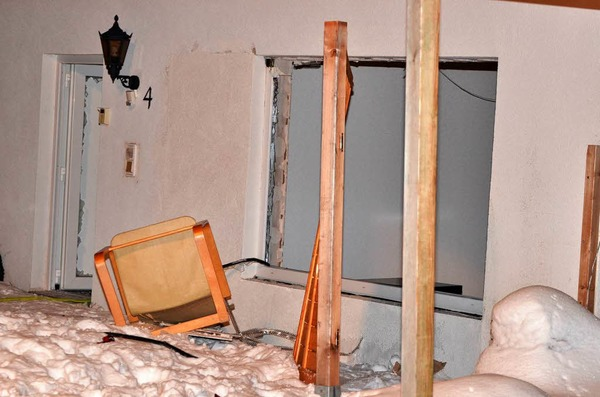 Explosion in Eisenbach - Gasflasche löst Detonation aus.