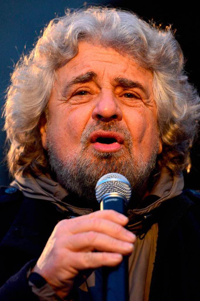Komiker <b>Beppe Grillo</b> mischt den Wahlkampf auf - 69348825