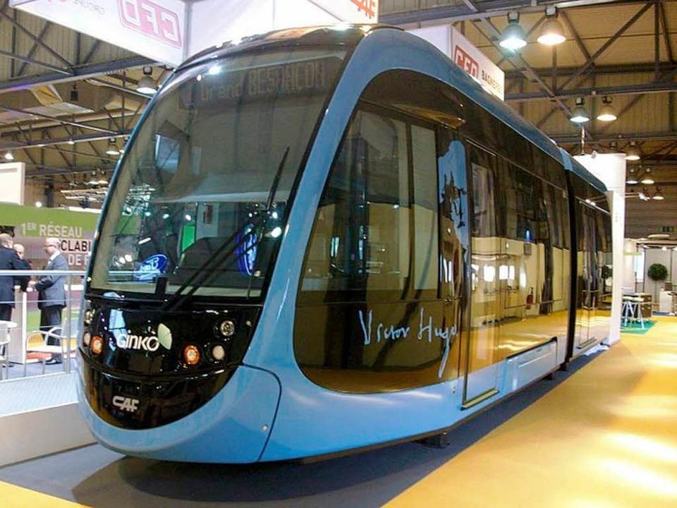 Auch Freiburgs Partnerstadt Besançon i... Verkehrs AG zwölf Trams bestellt hat.    Foto: Hersteller