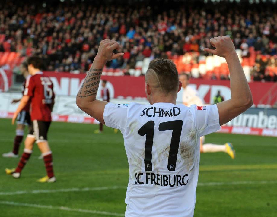 Der Torschütze: Jonathan Schmid.    Foto: Michael Heuberger