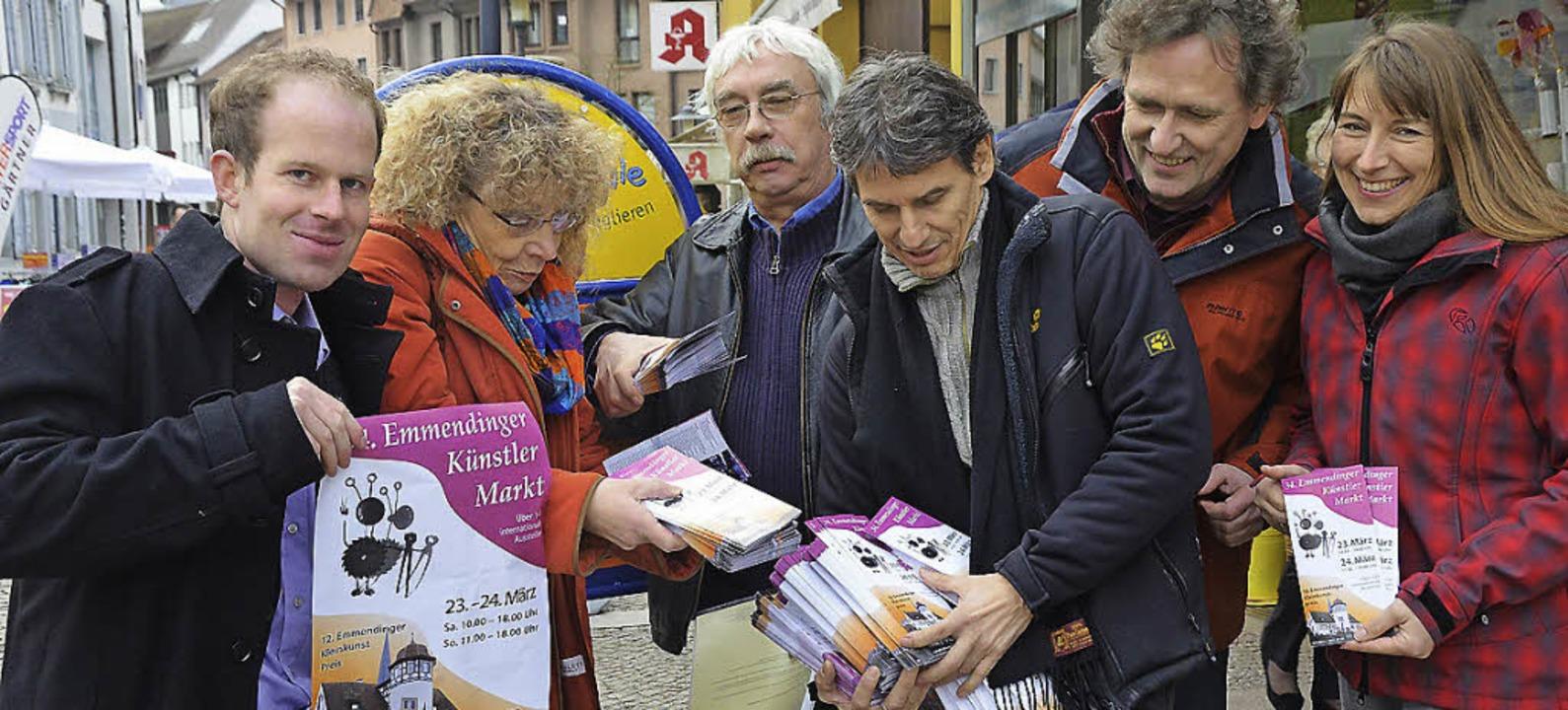 Jurymitglieder und Veranstalter werben...mann, Peter Möller und Beate Desenzani    Foto: Sylvia-Karina Jahn