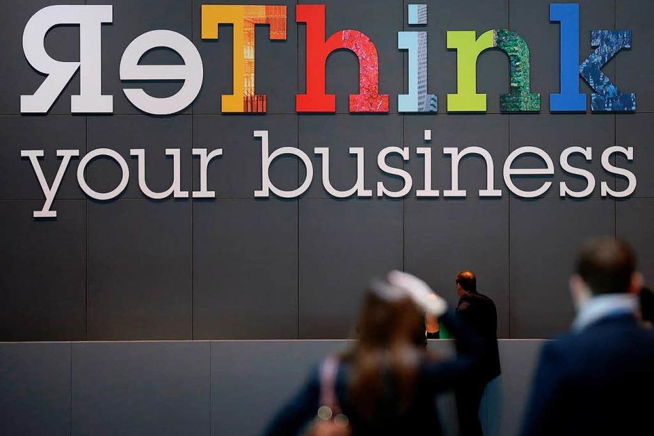 Den Betrieb neu überdenken – mit diesem Motto wirbt das amerikanische IT- und Beratungsunternehmen IBM um Kunden. (Foto: dapd)