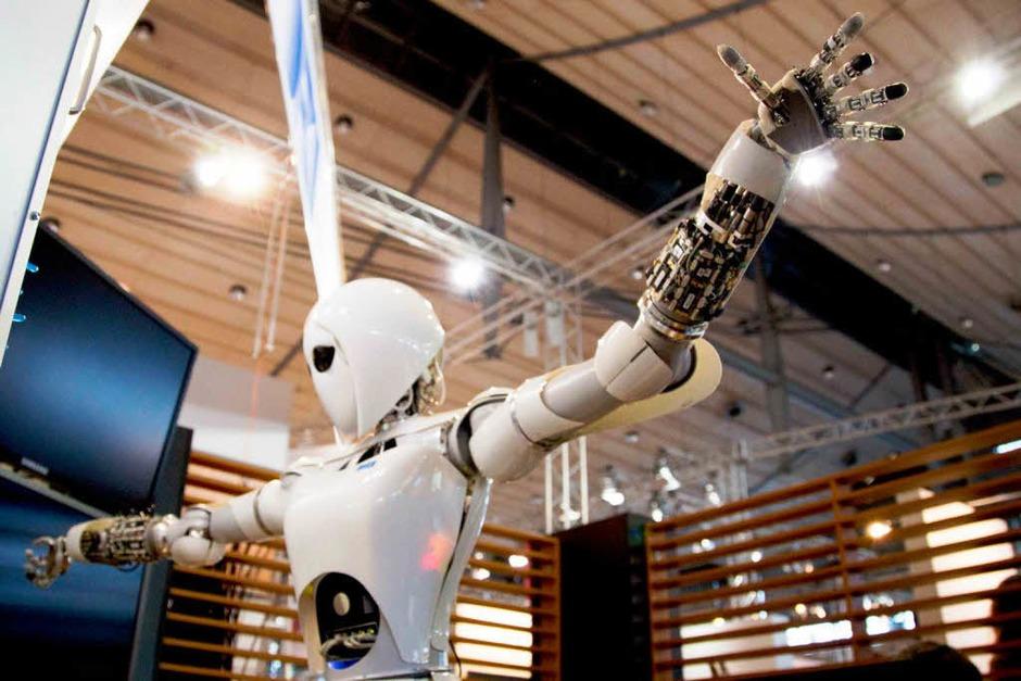 """Aila"" auf der Computermesse CeBIT in Hannover. (Foto: AFP)"