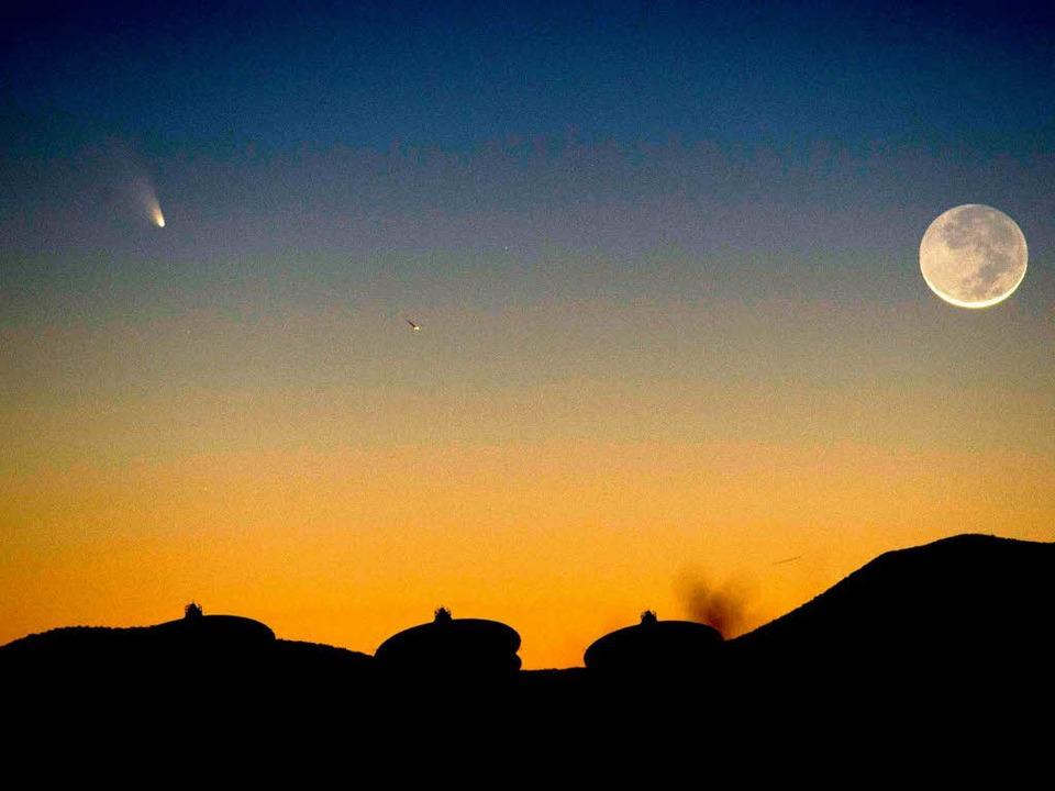 Der Komet Panstarrs ist am Nachthimmel über den USA zu sehen.  | Foto: AFP