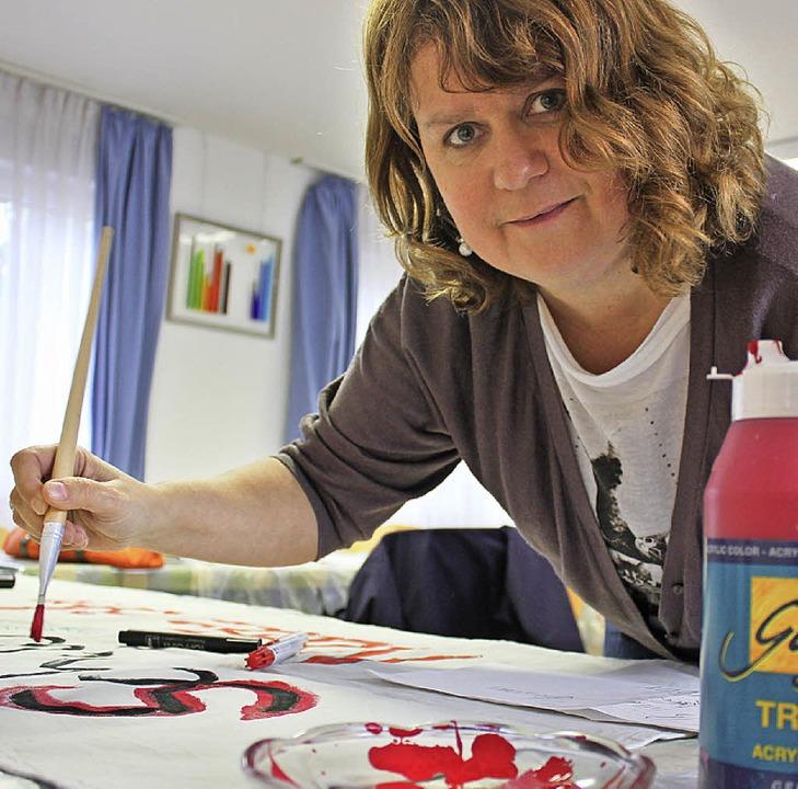 Silvia Janker setzt sich für die Umgehung ein.    Foto: Eva-Maria Klassen