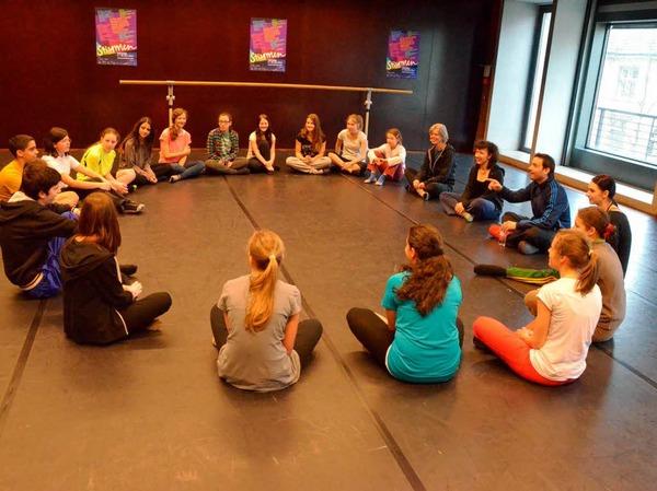 Workshop mit Eric Gauthier wird zu einer spannend, temporeichen Choreografie.