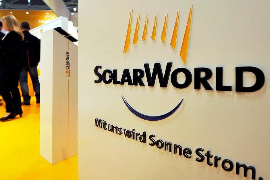 Platz 2: Der Kurs des ehemaligen Solar-Branchenprimus SolarWorld hat 2012 um über 68 Prozent abgenommen; seit 2008 ist er bereits um über 97 Prozent gesunken. (Foto: dapd)