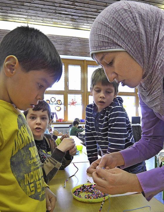 Yamira Tahiri gibt islamischen Religionsunterricht.     Foto: Bamberger