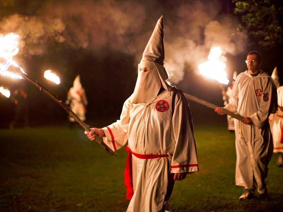 Mitglieder des Ku Klux Klan in den USA   | Foto: dpa