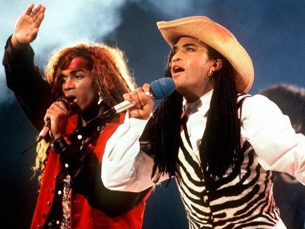 Gefälschte Songs: Das Pop-Duo Milli Vanilli  aus den 1980er-Jahren hat nie selbst gesungen. Sämtliche Hits waren gefälscht.