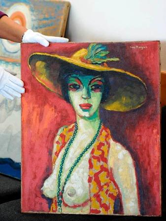 """Kunstfälschung: Das """"Frauenportrait mit Hut"""" des Freiburger Kunstfälschers Beltracci. Fälschlicherweise wurde es Kees van Dongen zugeschrieben."""