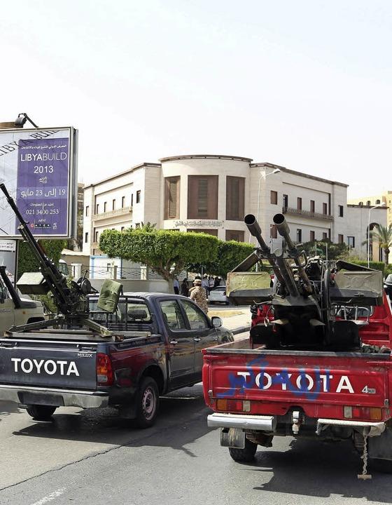 Milizen in Tripoli   | Foto: AFP
