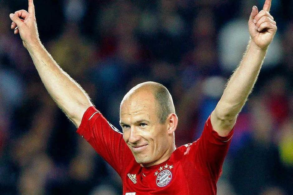 Grund zur Freude: Mit einem starken Linksschuss machte Arjen Robben das 0:1 (Foto: dpa)