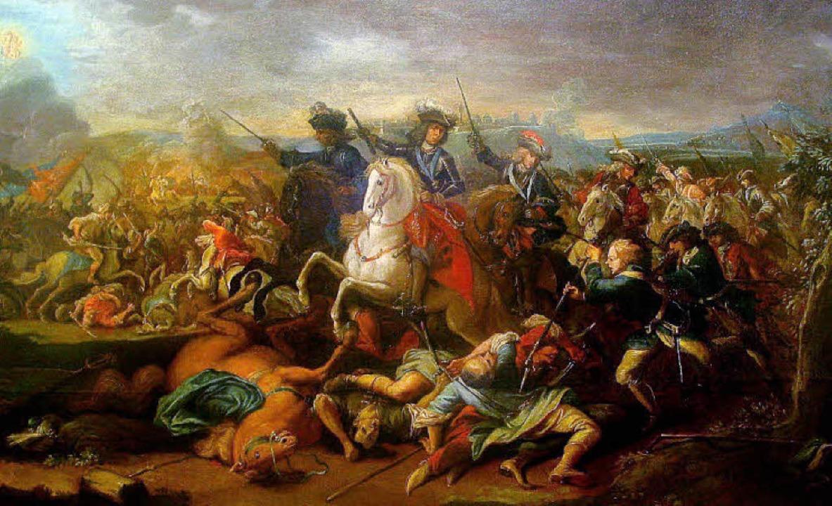 Christliche Habsburger gegen muslimisc...Eugen in der Schlacht um Belgrad 1717   | Foto: BZ