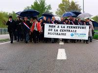 Hunderte demonstrieren f�r Erhalt von Akw Fessenheim