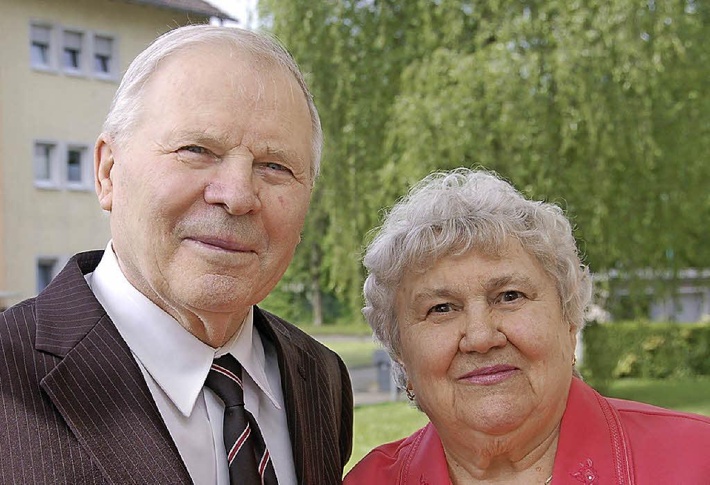 Theodor Hübner und <b>Martha Lang</b> Foto: w. Beck - 71796442