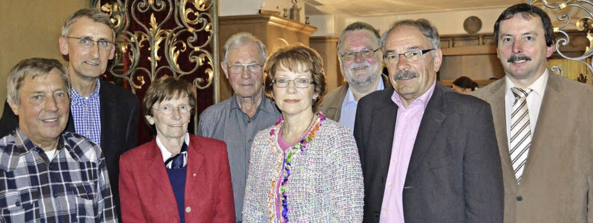 Zeller Christdemokraten geehrt (von li... Kiefer und Vorsitzender Klaus Wetzel   | Foto: Berger