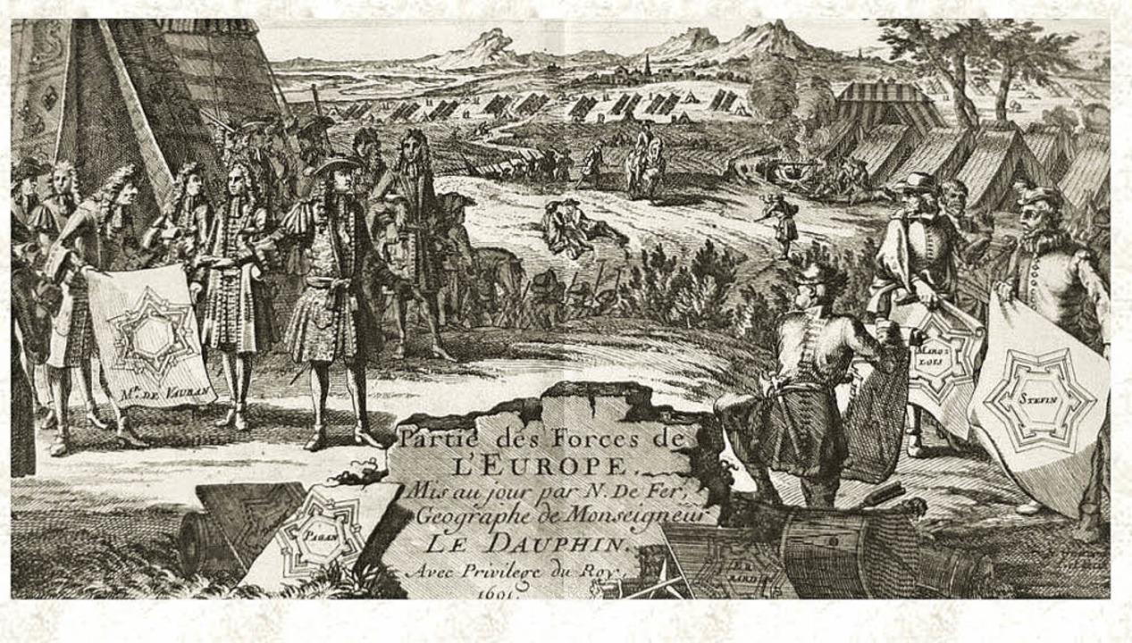 Die Darstellung zeigt unter anderem Vauban und seine Festungspläne.    Foto: privat