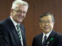 Kretschmann in Fukushima: Im Zentrum des Bebens